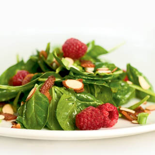 Spinach Salad with Raspberry Vinaigrette Recipe