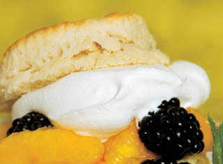 Peach-Blackberry Shortcakes recipe