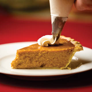 Pumpkin Pie with rum whipped cream recipe