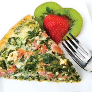 Mediterranean Spinach Quiche Recipe
