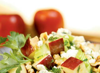 Apple and Walnut Salad With Blue Cheese Recipe