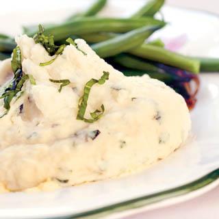 Mashed Potatoes with Fresh Basil Recipe