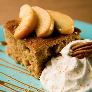 Gingerbread with Caramelized Apples recipe