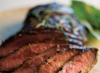 Grilled Flat-iron Steak with Spicy Summer Rub recipe