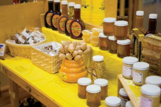 Honey and honey products at Hunter's Honey Farm