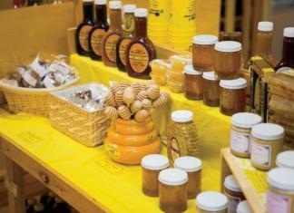 Honey and honey products at Hunter's Honey Farm