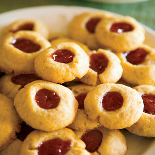 Almond Shortbread Thumbprint Cookies recipe