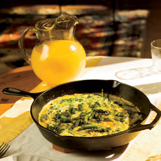 Asparagus, Spinach &amp; White Cheddar Frittata recipe