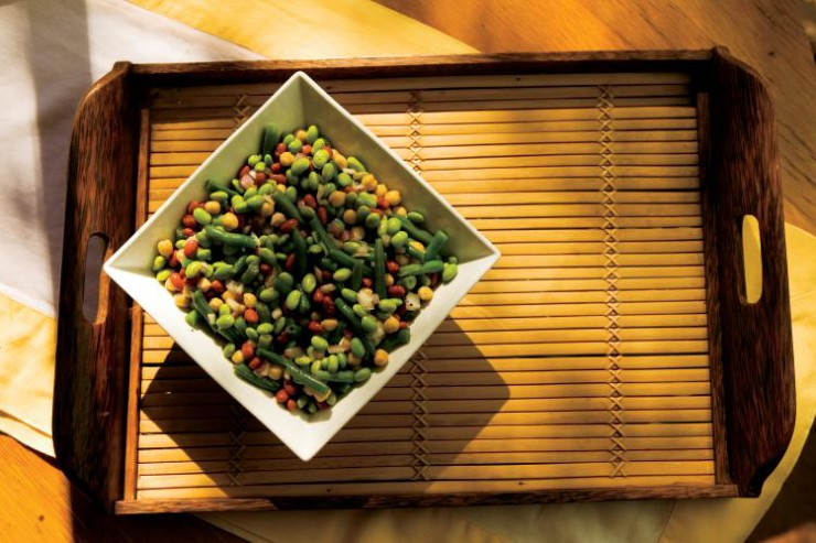 Edamame bean salad
