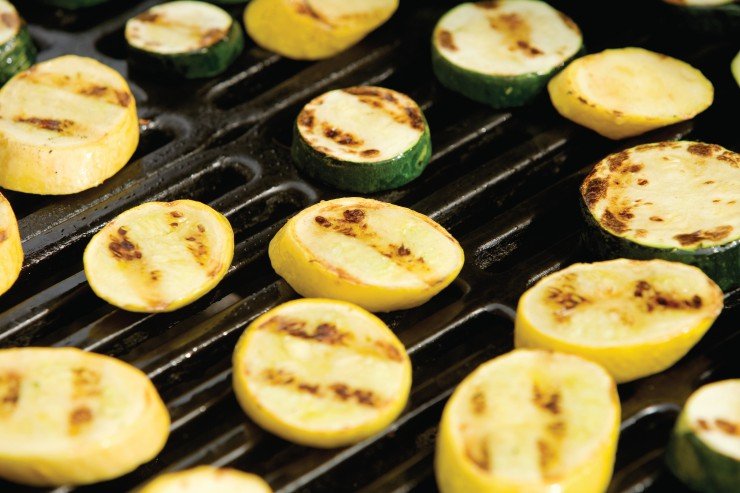 Grilled summer squash