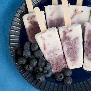 Blueberry Swirl Popsicles