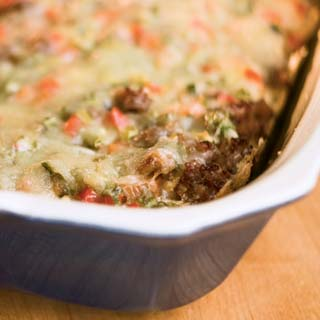 Spicy Sausage Red Pepper Egg Casserole
