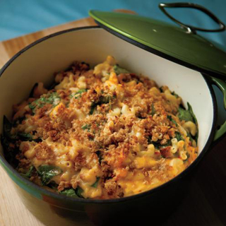 Macaroni & Cheese With Spinach and Sun-Dried Tomatoes