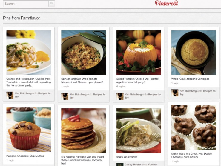 pinterest for farm flavor