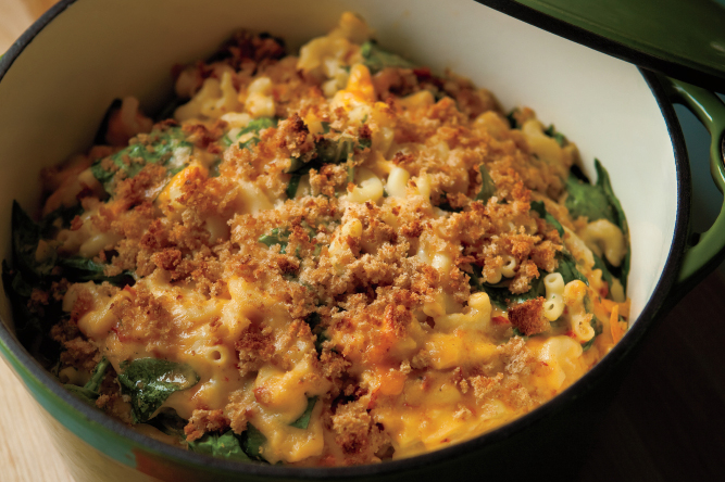 Sundried Tomato and Spinach Macaroni and Cheese