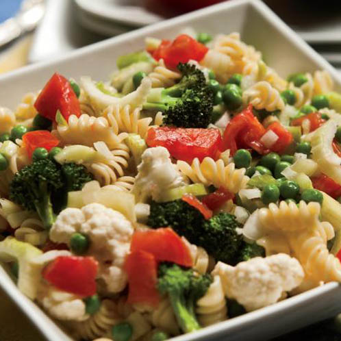 Vegetable Pasta Salad With Cucumber Vinaigrette Recipe