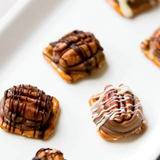 Caramel Chocolate Turtle Pretzels Recipe