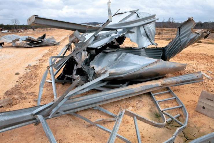 The Alabama poultry industry was hit hard by several devastating tornadoes in 2011