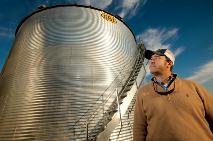 Willis Jepson, Tennessee grain farmer, uses technology such as no-till farming
