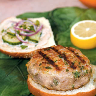 Thai Tuna Burger with Ginger-Lemon Mayonnaise