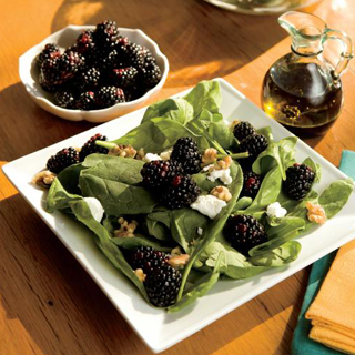 Easy Spinach, Blackberry and Goat Cheese Salad Recipe