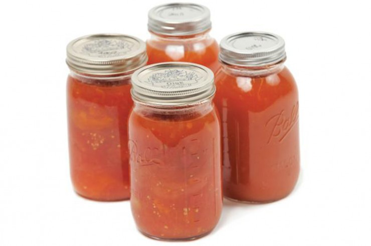 Canned tomatoes using waterbath method