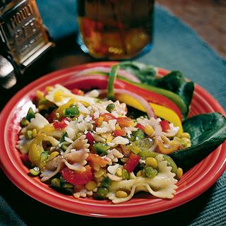 Pasta, Pea and Bell Pepper Salad Recipe