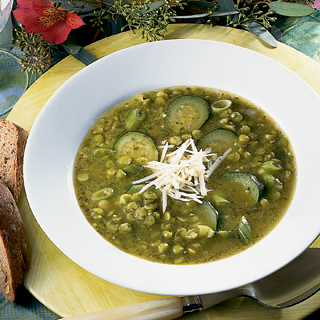 Pea and Pesto Soup Recipe