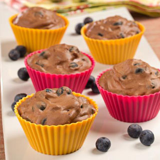 Blueberry Chocolate Mousse Tarts Recipe