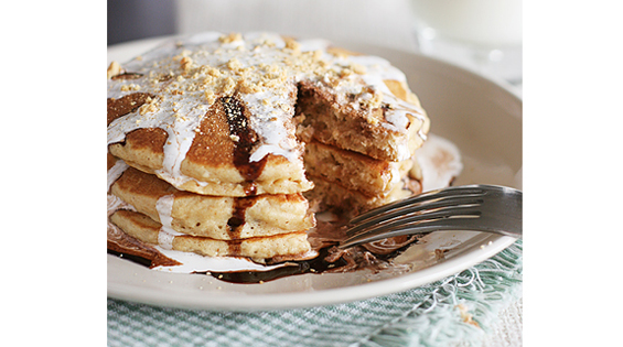 S'mores Pancakes by Taste and Tell