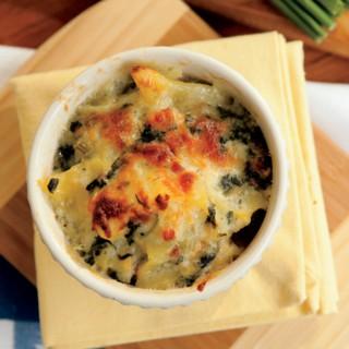 potato, spinach and ham gratin recipe