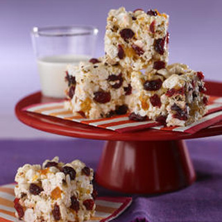 Apricot Cherry Popcorn Squares