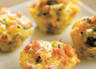 mini ham and cheddar veggie cups recipe