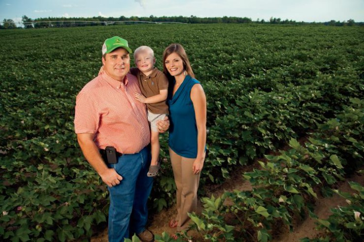 Georgia Farmer Chris Hopkins and his family