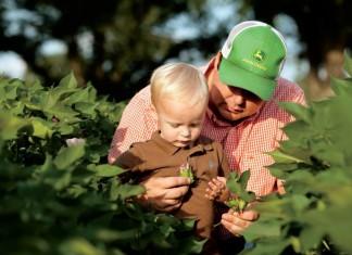 Georgia Farmer Chris Hopkins and his son