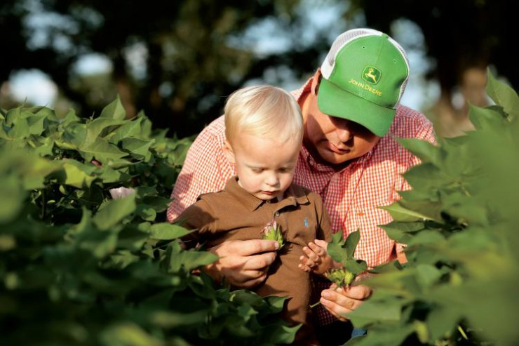 Georgia Farmer Chris Hopkins and his son