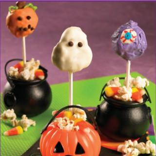 Spooky Popcorn Cake Pops Recipe
