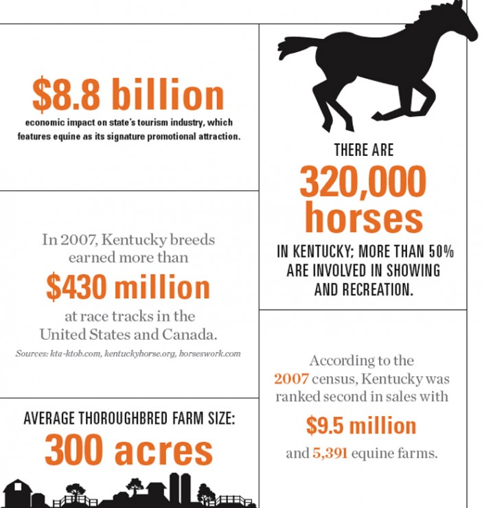 Kentucky Equine Industry Graphic