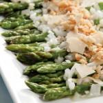 Warm Asparagus Salad with Lemon, Parmesan and Breadcrumbs
