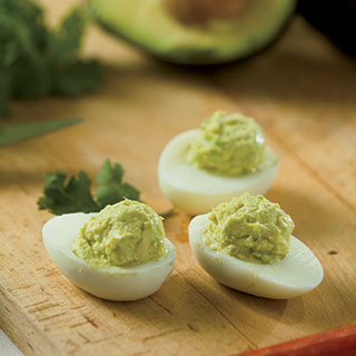 Avocado Lime Deviled Eggs