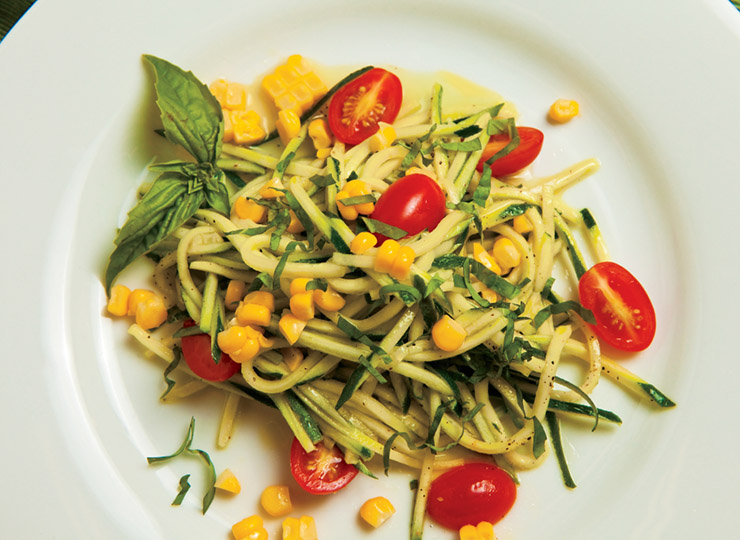 Zucchini, Corn and Tomato Salad