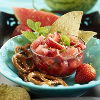 Watermelon Strawberry Mint Salsa