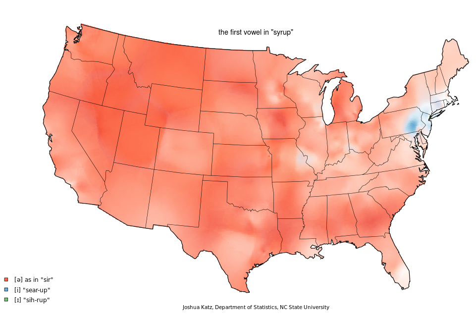 syrup pronunciation map