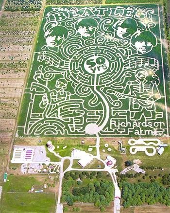 Beatles Corn Maze