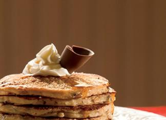 Double Chocolate Whole Grain Pancakes