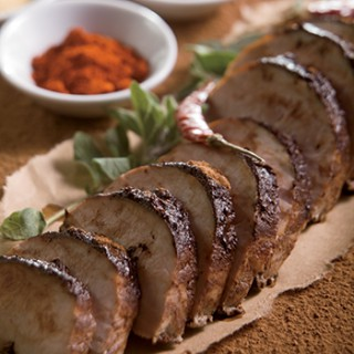 Roasted Pork Tenderloin with Cocoa Chile Rub
