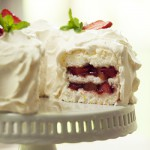 Strawberry-Rhubarb Angel Food Cake Recipe