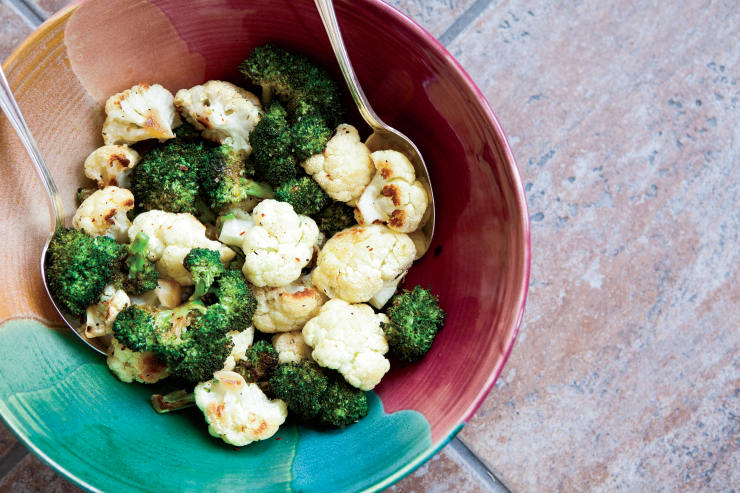 Oven Roasted Broccoli and Cauliflower