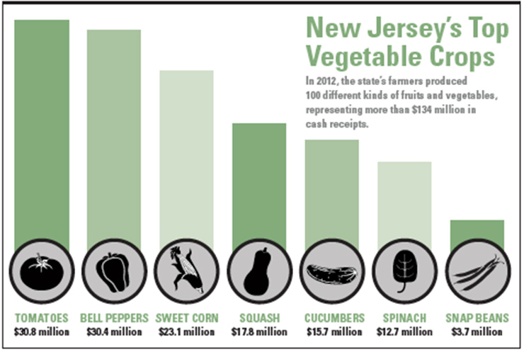 New Jersey food crops