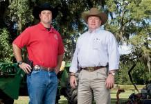 Chief (Lt.) Gene Wiggins, right and Special Agent Slaton Jemison Agriculture Rural Crime Unit